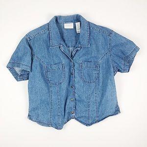 Vintage Liz Claireborn Denim Button Down Shirt XL